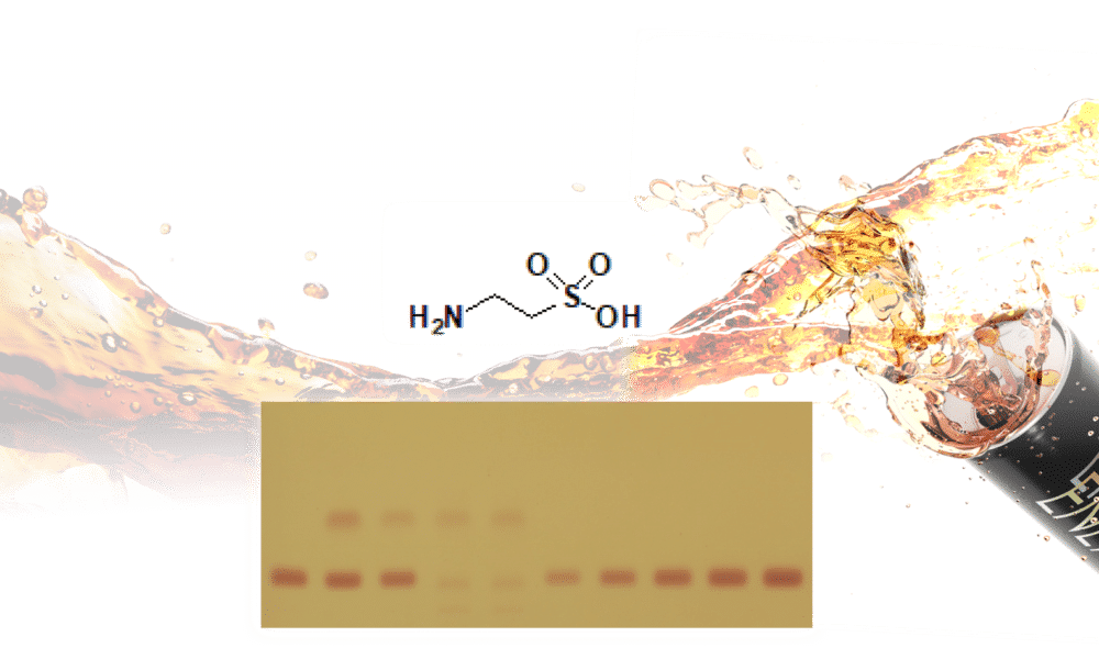 TLC-Taurine-Energy Drinks-HPTLC-Ninhydrin-Identifizierung